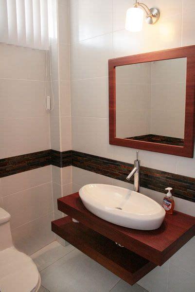 lavabos  banos  mueble empotrado sin patas