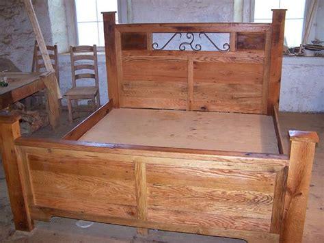 craftsman style platform storage bed  reclaimed wood