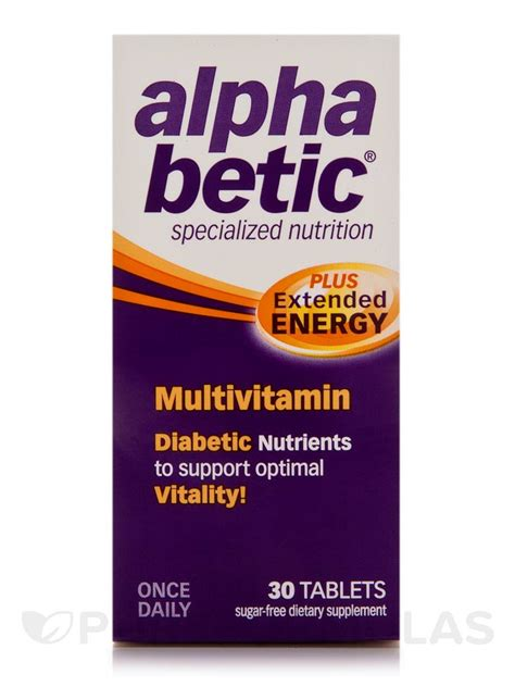 Multivitamin Plus alpha betic 174 multivitamin plus extended energy 30 tablets