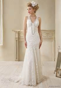 Alfred angelo modern vintage bridal sleeveless wedding dress lace