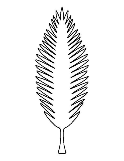 coconut tree leaf pattern use the printable outline for