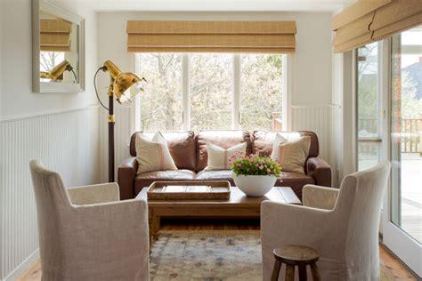 cape  renovation beach style family room boston