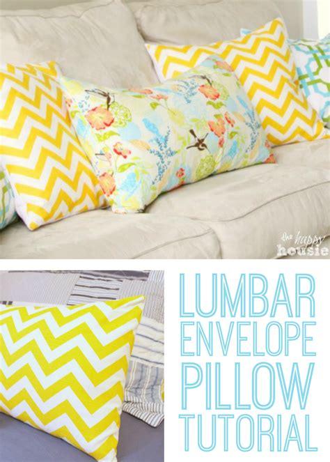 how to make a lumbar pillow envelope lumbar pillow tutorial u create