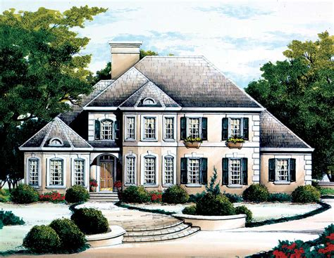 French Country Chateau 56124ad 1st Floor Master Suite Country Chateau House Plans