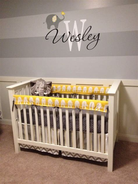 yellow and gray baby room wesley s yellow and gray elephant nursery project nursery