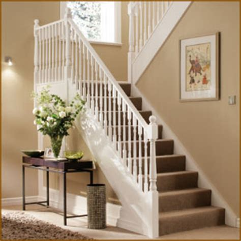 White Banister by Stair Balustrade Staircase Balustrading
