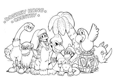 donkey kong coloring pages    print
