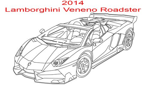 coloring pages of lamborghini veneno 2014 lamborghini veneno roadster line art by