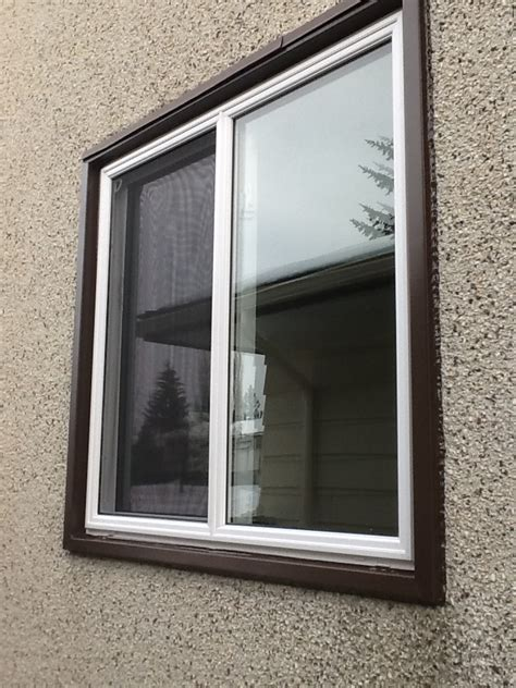 casing capping window installation finishing touches vinyl trim
