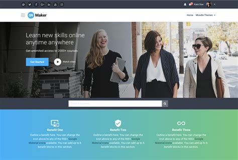 theme creator moodle outstanding responsive moodle themes