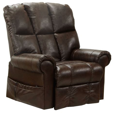 bonded leather recliner catnapper stallworth bonded leather power lift full lay