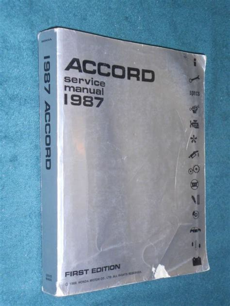 honda accord original parts purchase 1987 honda accord shop manual original honda