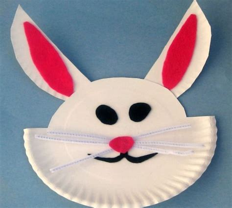 Paper Plate Bunny Craft - easy crafts for with paper plates craft ideas