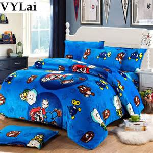 mario fannel bedding set single duvet