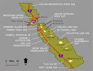 california central valley map style california central valley