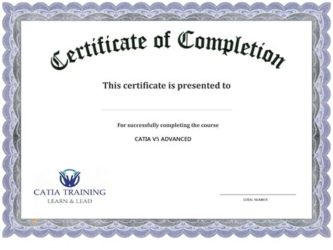 13 Certificate Of Completion Templates Excel Pdf Formats Certificate Of Completion Template Free