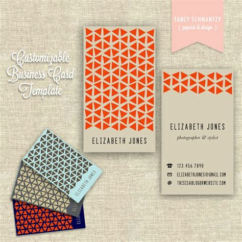 Business Card Template Etsy by Business Card Template By Fancyschmantzy On Etsy