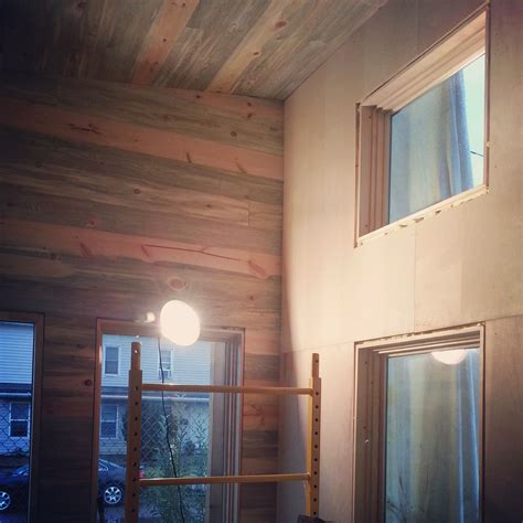 Plywood Interior Walls by Nearly Finished White Walls Birch Plywood Painting And