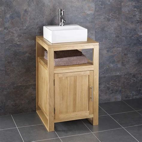 wide sinks bathroom 75cm wide cube solid oak freestanding bathroom washstand