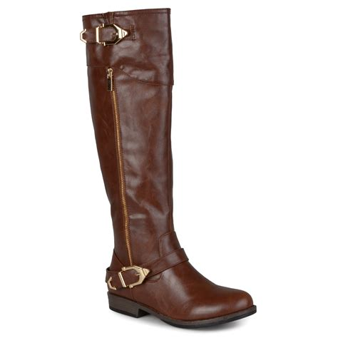 journee collection womens toe buckle detail boots ebay