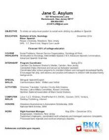 new grad registered resume resume template exle