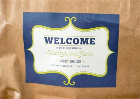 welcome bag labels wedding wedding ink kathryn and justin