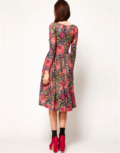 20 At Asos Until 11th Nov by Lyst Asos Midi Dress In Tapestry Print