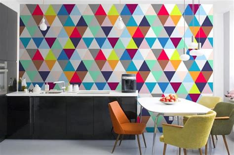 abstract kitchen wallpaper 15 modern kitchen designs with geometric wallpapers rilane