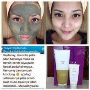 Masker Jerawat Jafra jafra mud mask dapatkan wajah putih dan bersinar alami
