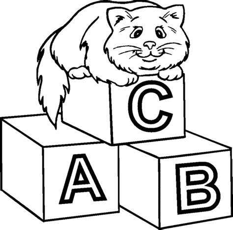 Wooden Block Coloring Page Coloring Pages Block Coloring Pages