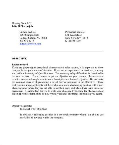 sles of objective statements for resumes 9 resume objective statement exle free sle