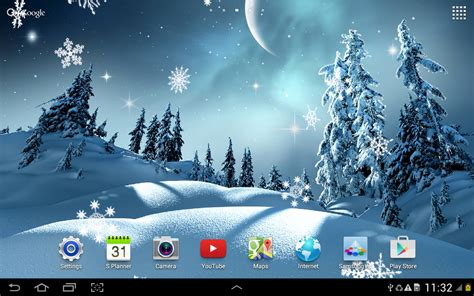 google winter wallpaper winter night wallpaper android apps on google play