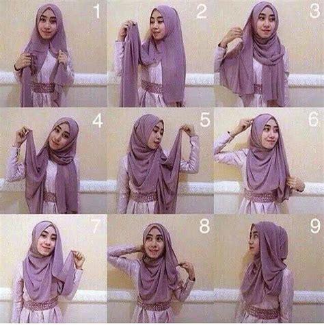 tutorial jilbab pesta fasmina cara memakai jilbab pashmina pesta