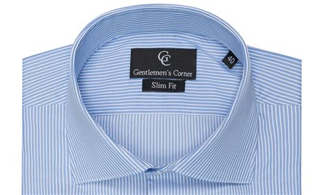 Ro Sanghai Stripe Premium blue stripe shirt cuff shirts premium shirts