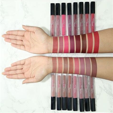 Huda Mini Liquid Lipstick best 25 huda lipstick swatches ideas on