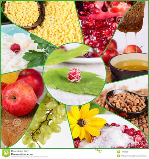 Collage Of Healthy Food Stock Photo Image Of Macro Healthy Food Collage