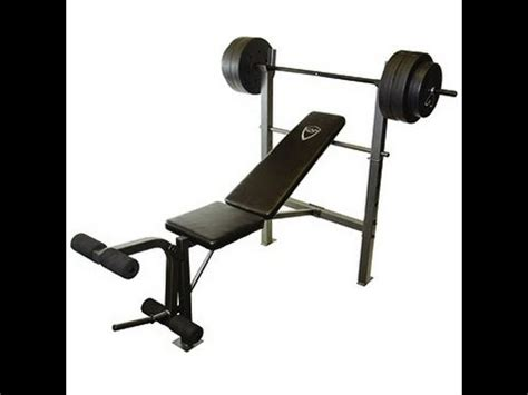 benching 100 pounds cap barbell deluxe bench w 100 pound weight set only 69 reg 140
