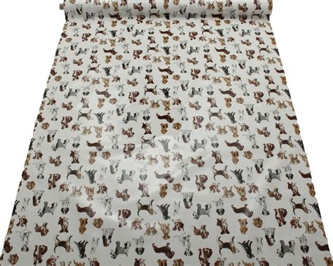 dog pattern fabric uk dog print pattern pvc oilcloth tablecloth covering kitchen