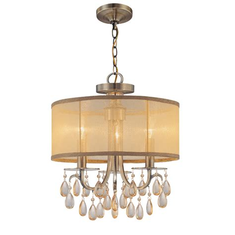 Lighting Chandeliers Crystorama Hton 3 Light Chandelier Reviews Wayfair