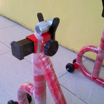 Jalu Paddock Model Bikers Silver Dan Merah standar paddock berkualitas dan hargapun terjangkau
