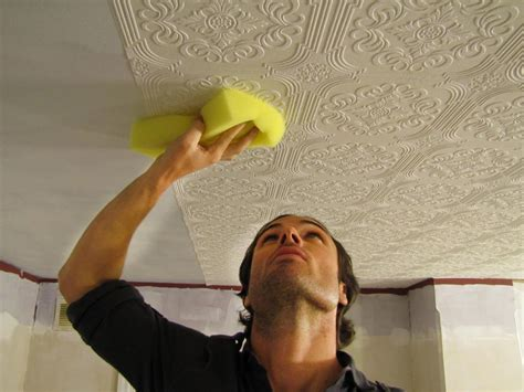 Wallpaper In Ceiling by How To Hang Wallpaper On A Ceiling How Tos Diy