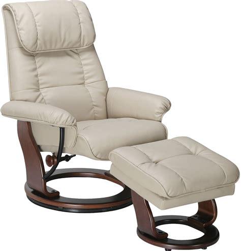 dixon taupe reclining chair ottoman  brick
