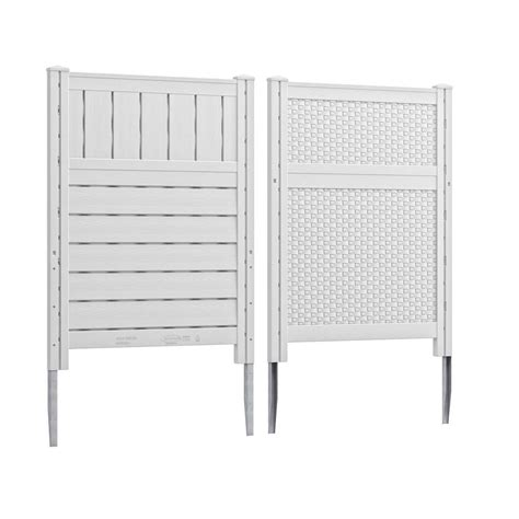 White Plastic Trellis Panels Suncast 36 25 In W X 48 In H Reversible Resin Screen