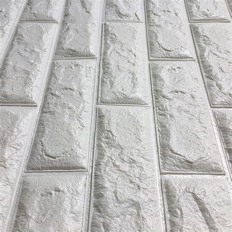 Kitchen Wall Backsplash Panels peel amp stick 3d wall panels white 3d brick wallpaper 2 6