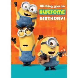 birthday card populer minion birthday cards where to buy