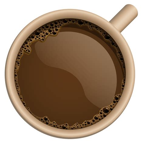 top of coffee cup brown coffee cup png clipart image png 3782 215 3793