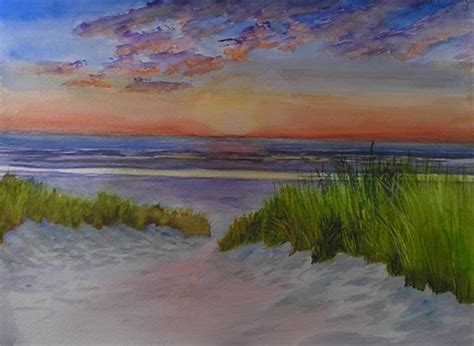 spray painter northern beaches bunny s artwork sunset on the watercolor painting