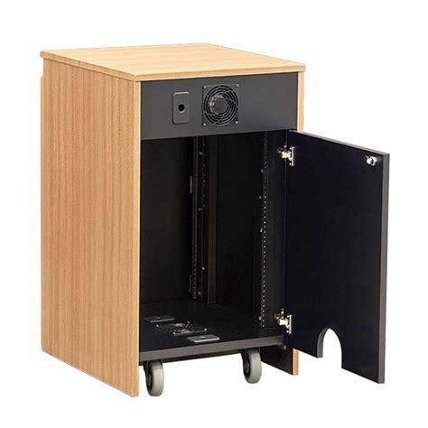 Audio Credenza audio visual furniture vfi single 16u rack credenza various colors cr1016ex