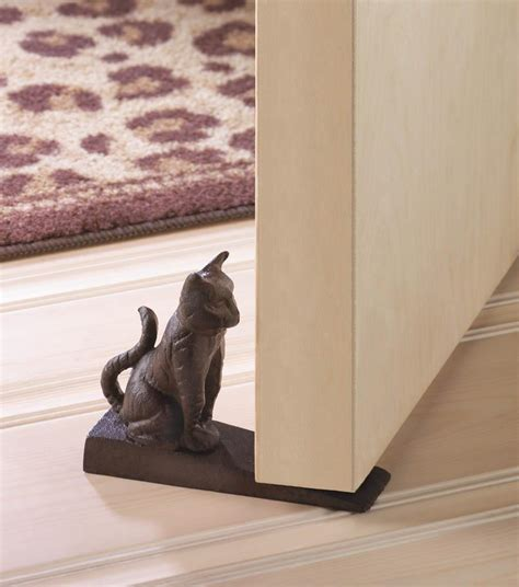 country rustic doorstops rustic cat cast iron metal shabby country statue door stop