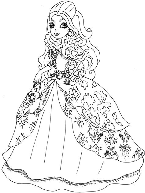 coloring page ever after high free printable ever after high coloring pages apple white